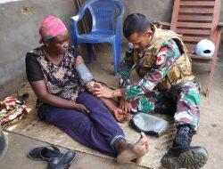 Bikin bangga, Kontingen Garuda Beri Bantuan Korban Kebakaran di Shabunda Kongo