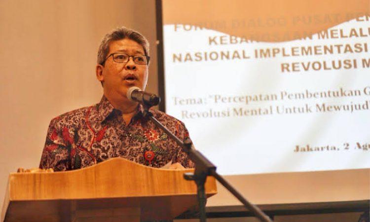 Sekretaris Gugus Tugas Gerakan Nasional Revolusi Mental (GNRM) sekaligus Deputi Bidang Koordinasi Kebudayaan Kemenko PMK, Nyoman Shuida